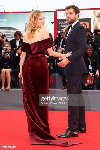 Joshua Jackson and Diane Kruger attend a premiere for 'Black Mass' during the 72nd Venice Film Festival on September 4 2015 in Venice Italy