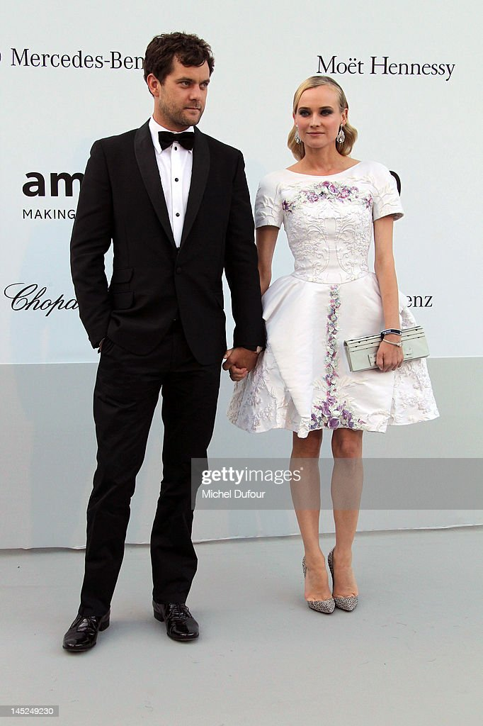 Joshua Jackson and Diane Kruger attend the 2012 amfAR's Cinema Against AIDS during the 65th Annual Cannes Film Festiva at Hotel Du Cap on May 24, 2012 in Antibes, France.
