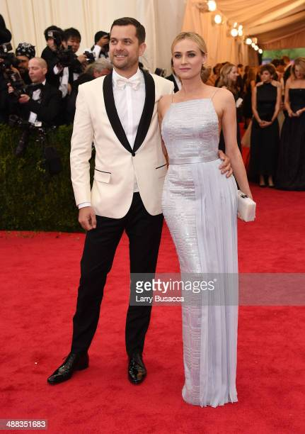 "Joshua Jackson and Diane Kruger attend the ""Charles James: Beyond Fashion"" Costume Institute Gala at the Metropolitan Museum of Art on May 5, 2014 in..."