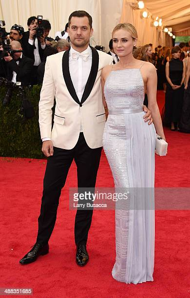 """Joshua Jackson and Diane Kruger attend the """"Charles James: Beyond Fashion"""" Costume Institute Gala at the Metropolitan Museum of Art on May 5, 2014 in..."""