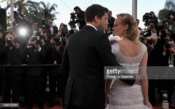 Joshua Jackson and Diane Kruger attend the 'Killing Them Softly' Premiere during 65th Annual Cannes Film Festival at Palais des Festivals on May 22...