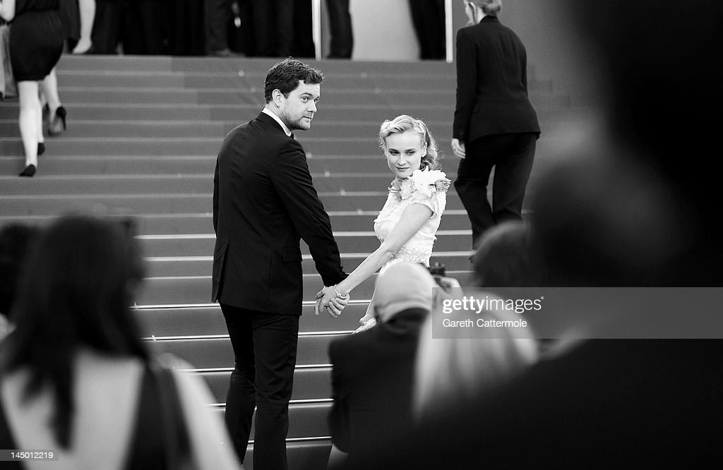 Joshua Jackson (L) and Diane Kruger attend the 'Killing Them Softly' Premiere during 65th Annual Cannes Film Festival at Palais des Festivals on May 22, 2012 in Cannes, France.