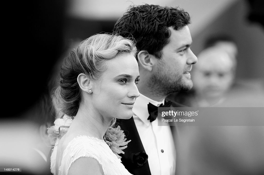 Joshua Jackson (R) and Diane Kruger attend the 'Killing Them Softly' Premiere during 65th Annual Cannes Film Festival at Palais des Festivals on May 22, 2012 in Cannes, France.