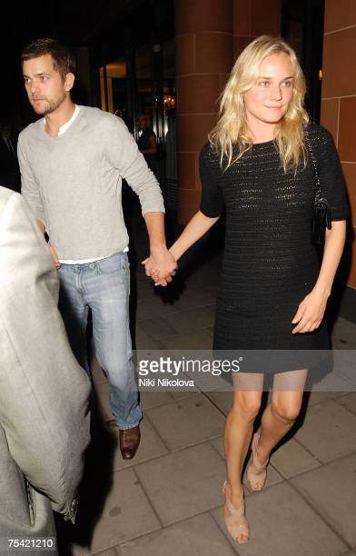 Joshua Jackson and Diane Kruger sighted leaving Cipriani Restaurant on July 14 2007 in London