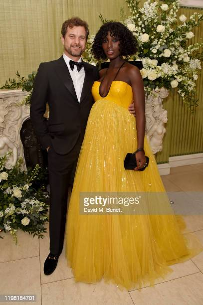 Joshua Jackson and Jodie Turner-Smith attend the British Vogue and Tiffany & Co. Fashion and Film Party at Annabel's on February 2, 2020 in London,...