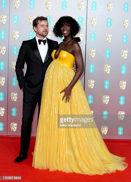 Joshua Jackson and Jodie Turner-Smith attend the EE British Academy Film Awards 2020 at Royal Albert Hall on February 02, 2020 in London, England.