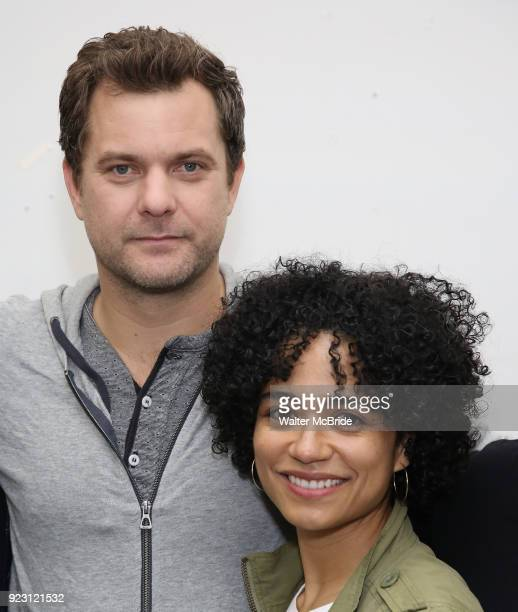 Joshua Jackson and Lauren Ridloff attend the first rehearsal and cast photo call for the Broadway Revival of 'Children of a Lesser God' on February...