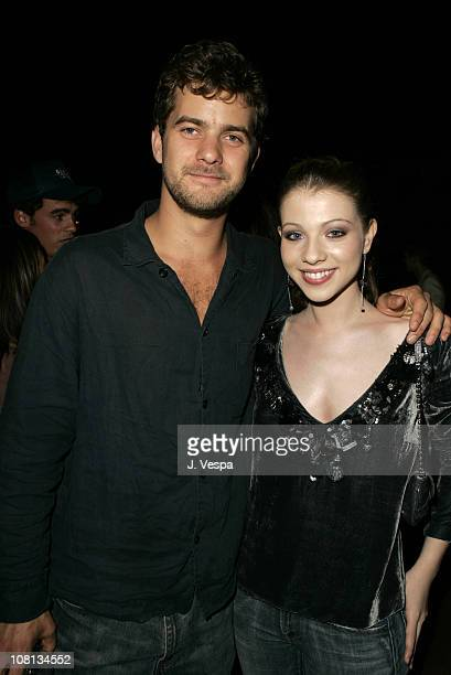 Joshua Jackson and Michelle Trachtenberg during Teen Vogue Young Hollywood Party Inside at Chateau Marmont in Los Angeles California United States