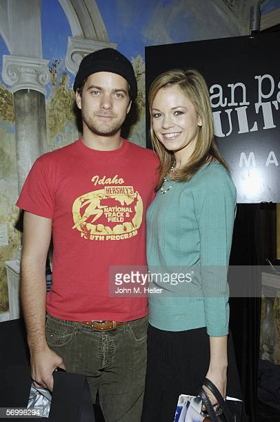Joshua Jackson and Rachael Boston attend a luncheon for a special tribute to David LaChapelle's documentary Rize on March 3 2006 in Los Angeles...