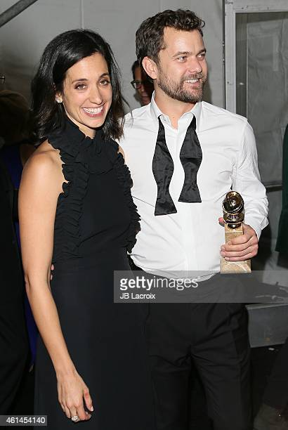 Joshua Jackson and Sarah Treem attend the 2015 Weinstein Company and Netflix Golden Globes After Party at Robinsons May Lot on January 11 2015 in...