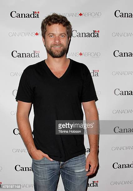 Joshua Jackson attends the Canada Day in LA party at on July 1 2015 in Santa Monica California
