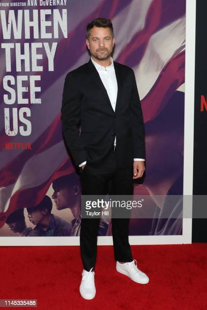Joshua Jackson attends the premiere of When They See Us at The Apollo Theater on May 20 2019 in New York City
