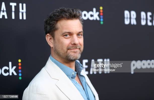 """Joshua Jackson attends the pre-screening reception for the premiere of Peacock's new series """"Dr. Death"""" at NeueHouse Los Angeles on July 08, 2021 in..."""