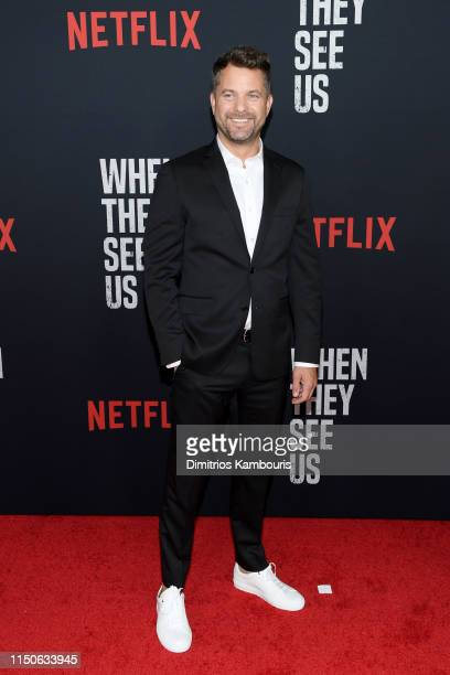 """Joshua Jackson attends the World Premiere of Netflix's """"When They See Us"""" at the Apollo Theater on May 20, 2019 in New York City."""
