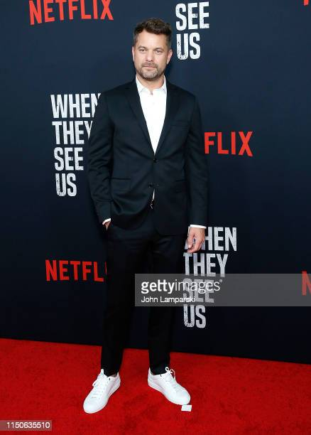 """Joshua Jackson attends """"When They See Us"""" World Premiere at The Apollo Theater on May 20, 2019 in New York City."""