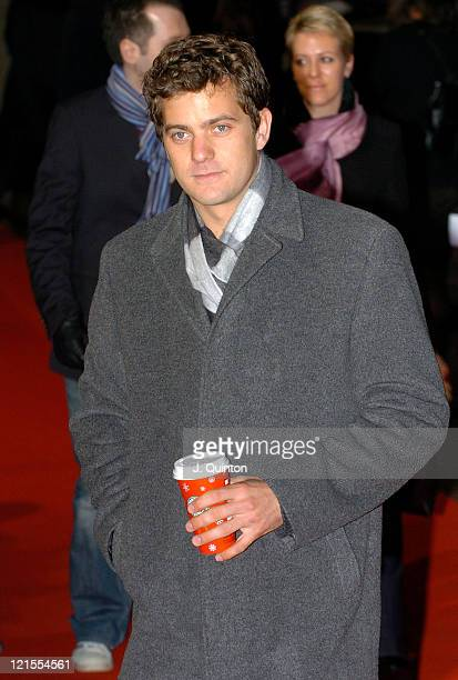 Joshua Jackson during The Aviator London Film Premiere Arrivals at Odeon West End Leicester Square in London Great Britain