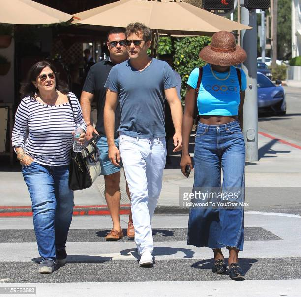Joshua Jackson Fiona Jackson and Jodie TurnerSmith are seen on August 02 2019 in Los Angeles California