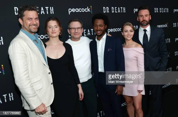 Joshua Jackson, Grace Gummer, Christian Slater, AnnaSophia Robb, Hubert Point-Du Jour and Patrick Macmanus attend the pre-screening reception for the...