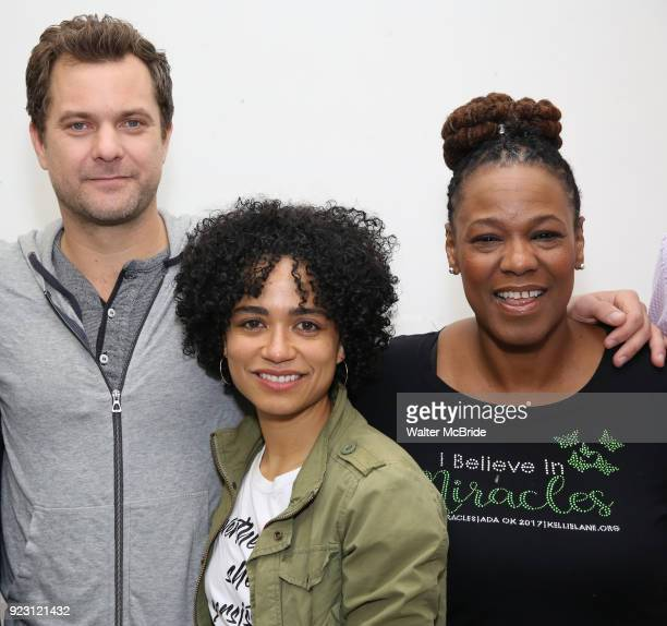 Joshua Jackson Lauren Ridloff Kecia Lewis attend the first rehearsal and cast photo call for the Broadway Revival of 'Children of a Lesser God' on...