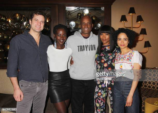 "Joshua Jackson, Lupita Nyong'o, Kenny Leon, Angela Bassett and Lauren Ridloff pose backstage at the new revival of the play ""Children of a Lesser..."