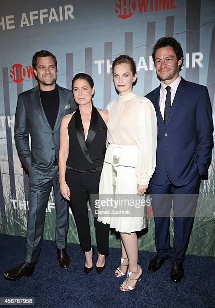 Joshua Jackson Maura Tierney Ruth Wilson and Dominic West attend 'The Affair' New York Series Premiere on October 6 2014 in New York City