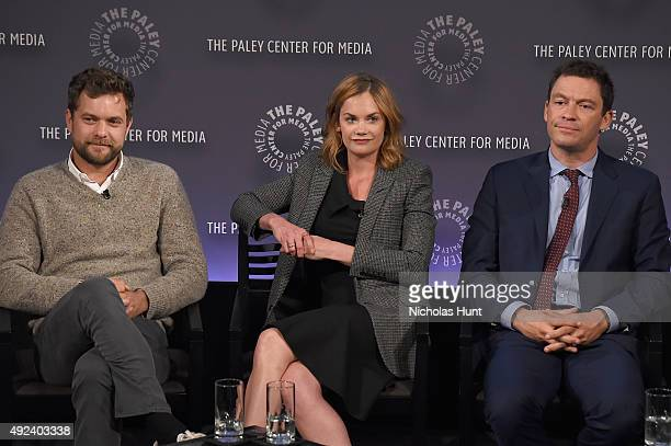 Joshua Jackson Ruth Wilson and Dominic West of The Affair attend the third annual PaleyFest NY at The Paley Center for Media on October 12 2015 in...