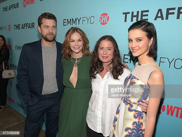 Joshua Jackson Ruth Wilson Maura Tierney and Julia Goldani Telles attend a screening for Showtime's The Affair at the Samuel Goldwyn Theater on May 6...