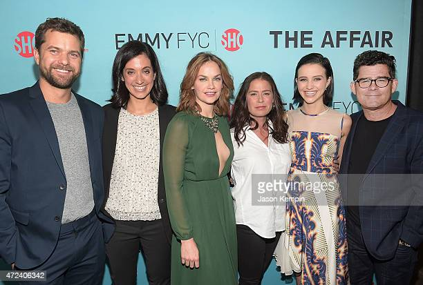 Joshua Jackson Sarah Treem Ruth Wilson Maura Tierney Julia Goldani Telles and Jeffrey Reiner attend a screening for Showtime's The Affair at the...