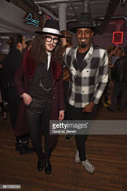 Joshua Kane and Mason Smillie attend the launch of the Phoenix Magazine SS17 issue at Lights Of Soho on May 9 2017 in London England