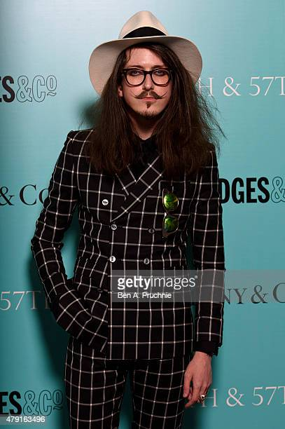 Joshua Kane arrives at the Tiffany Co immersive exhibition 'Fifth 57th' at The Old Selfridges Hotel on July 1 2015 in London England