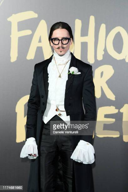 Joshua Kane attends Fashion For Relief London 2019 at The British Museum on September 14 2019 in London England