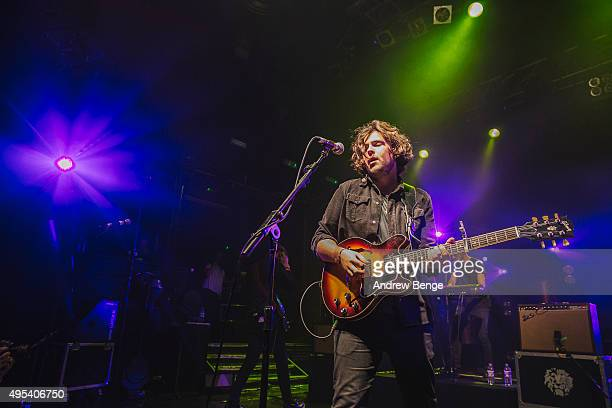 Joshua Keogh of Amber Run performs on stage at KOKO on November 2, 2015 in London, England.