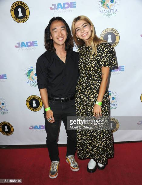 Joshua Kim and Eli Kaser attend the EP Release Party for Jade Patteri held at The Federal NoHo on September 21, 2021 in North Hollywood, California.