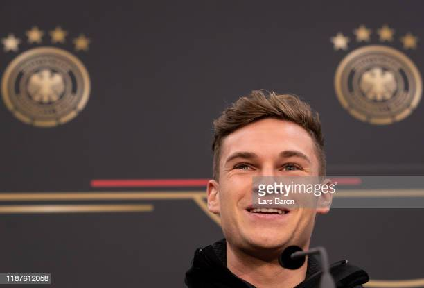 Joshua Kimmich is seen during a German National Team press conference on November 14 2019 in Duesseldorf Germany Germany will play a UEFA Euro 2020...