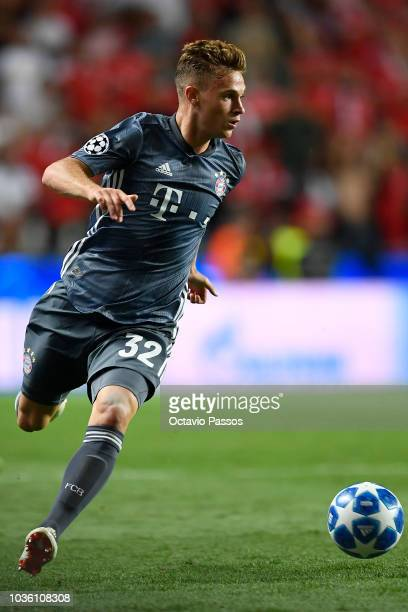 Joshua Kimmich of Bayern Muenchen in action during the Group E match of the UEFA Champions League between SL Benfica and FC Bayern Muenchen at...