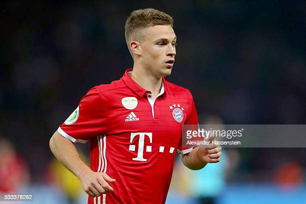Joshua Kimmich of Bayern Muenchen looks on during the DFB Cup Final 2016 between Bayern Muenchen and Borussia Dortmund at Olympiastadion on May 21...