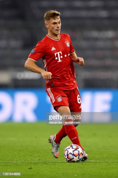 Joshua Kimmich of FC Bayern München during the UEFA Champions League Group A stage match between FC Bayern Muenchen and Atletico Madrid at Allianz...