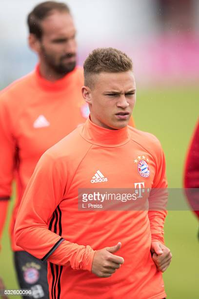 Joshua Kimmich of FC Bayern Muenchen arrives for a training session on May 19 2016 in Munich Germany