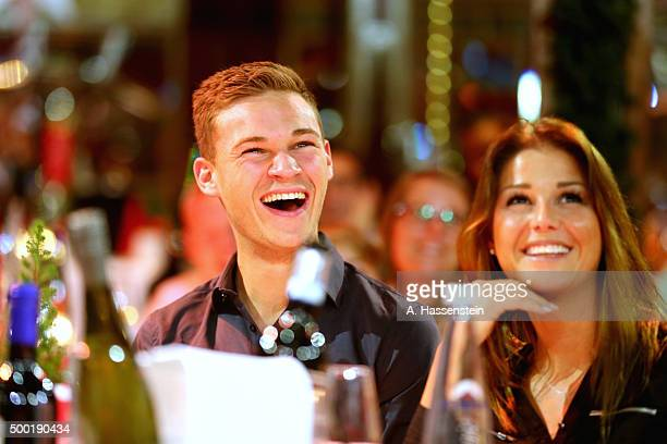 Joshua Kimmich of FC Bayern Muenchen attends with Lina Meyer the FC Bayern Muenchen Christmas Party at Alfons Schuhbeck`s teatroSpiegelzelt on...