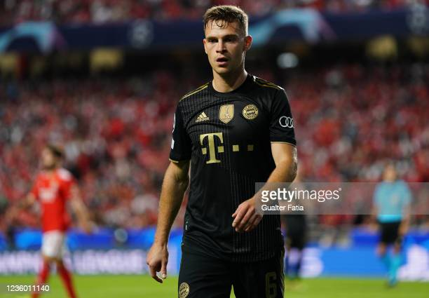 Joshua Kimmich of FC Bayern Munchen during the Group E - UEFA Champions League match between SL Benfica and Bayern Munchen at Estadio da Luz on...