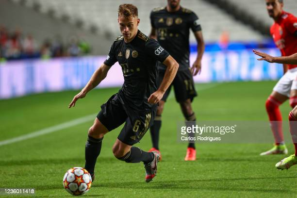 Joshua Kimmich of FC Bayern Munchen during the UEFA Champions League group E match between SL Benfica and Bayern Muenchen at Estadio da Luz on...