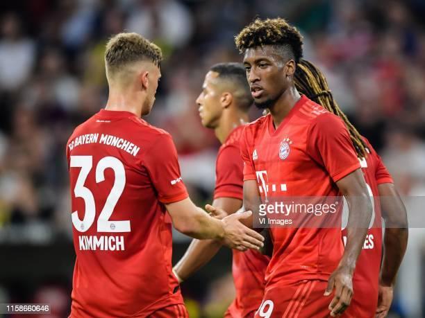 Joshua Kimmich of FC Bayern Munich, Kingsley Coman of FC Bayern Munich during the Pre-season Friendly match between Bayern Munich and Fenerbahce SK...