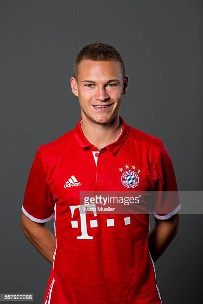 Joshua Kimmich of FC Bayern Munich pose during the team presentation on August 10 2016 in Munich Germany