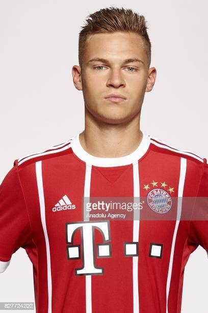 Joshua Kimmich of FC Bayern Munich poses during the team presentation at Allianz Arena on August 8 2017 in Munich Germany