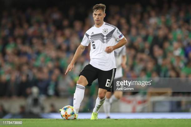 Joshua Kimmich of Germany controls the ball during the UEFA Euro 2020 qualifier match between Northern Ireland and Germany at Windsor Park on...