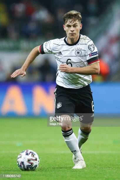 Joshua Kimmich of Germany controls the ball during the UEFA Euro 2020 Qualifier between Germany and Northern Ireland at Commerzbank Arena on November...