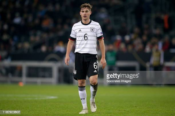 Joshua Kimmich of Germany during the EURO Qualifier match between Germany v Belarus on November 16 2019 in Gladbach Germany