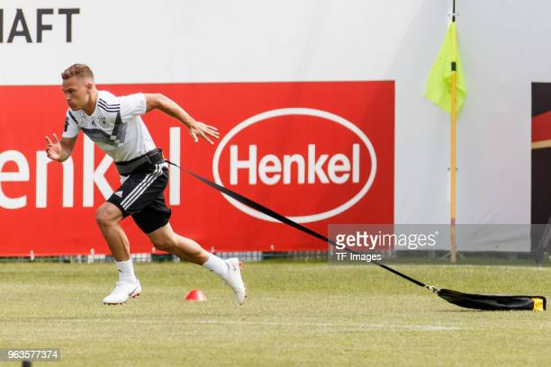 Joshua Kimmich of Germany in action during day seven of the Southern Tyrol Training Camp on May 29 2018 in Eppan Italy