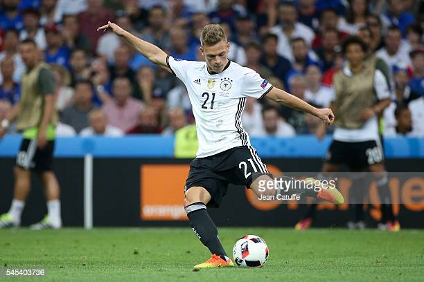 Joshua Kimmich of Germany in action during the UEFA Euro 2016 semifinal match between Germany and France at Stade Velodrome on July 7 2016 in...