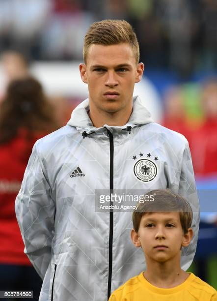 Joshua Kimmich of Germany is seen before the Confederations Cup 2017 Final match Chile Germany at SaintPetersburg Stadium in St Petersburg Russia 2...